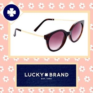 🌻 Lucky Brand Cayucos Torti Cat Eye Sunglasses 🌻